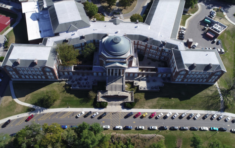 Pictured above,  aerial shot of the WHHS campus.  The partially empty Lot A is unusual compared to the filled student lots.