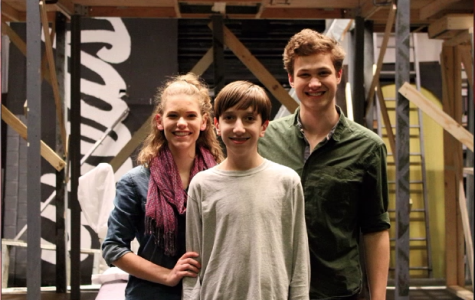 From left to right: Lydia Noll, '19, Peter Godsey, '21, and SENIOR Augustus Corder. Corder plays Pippin, the protagonist. Noll plays Catherine, Pippin's love interest and the mother of Theo, played by Godsey.