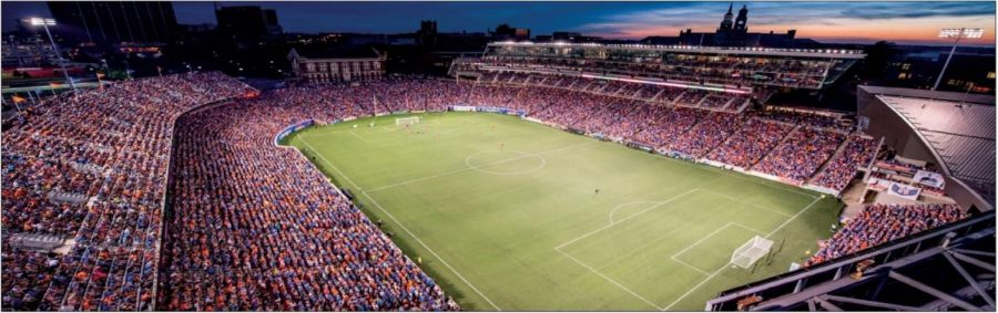 A sold out crowd at Nippert Stadium cheers for the FC Cincinnati in a 2017 Open Cup game against Chicago Fire. FC Cincinnati will face the Chicago Fire in league play during 2019.