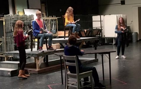 The rehersal of Ebenezer Scrooge