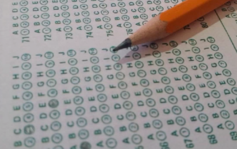 Students studying for standardized testing