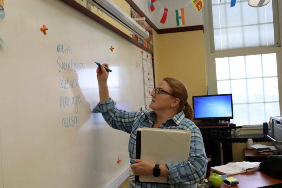 English teacher Julie Vernon started at WHHS this year.
