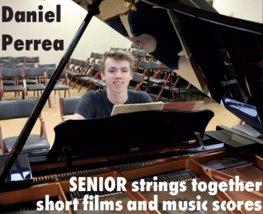 "SENIOR Daniel Perrea started playing music when he was just four years old, but he didn't start composing until his freshman year at WHHS. ""I got an iPad and a notation program and just wrote down ideas I had. Since then, I've been learning more and more,"" Perrea said. He has produced music for several WHHS theater performances, including Cherry Orchard, Julius Caesar and She Kills Monsters."