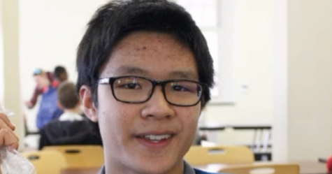 "Nathan Huang, '23, is optimistic about ""having friends and having my family and having food to eat. I'm just lucky to have these. They make me happy."" To spread optimism, Huang suggests smiling more often and helping out ""as much as you can."""