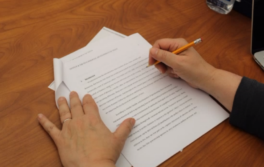 """Kate Burroughs strongly believes in what the Writing Center does, and it's importance to the students at WHHS. """"This is the time for students to get the practice and enhance their skills,"""" Burroughs said."""