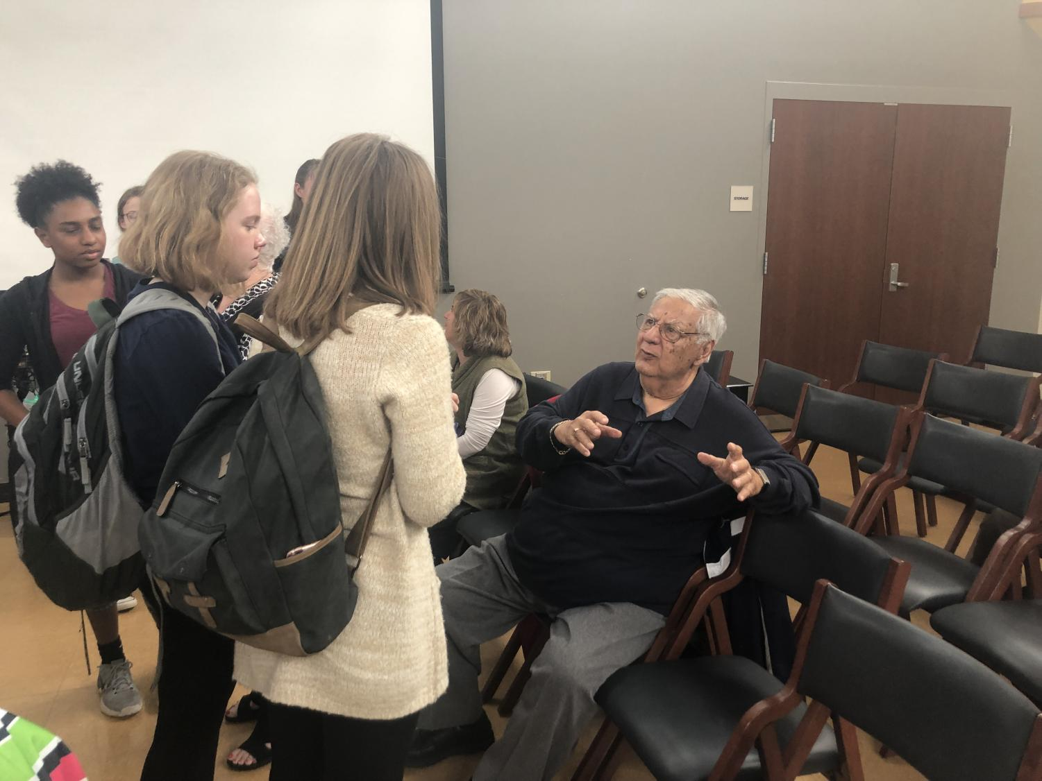 Matt Yosafat, a survivor of the Holocaust, spoke with his wife Anneliese to a group of WHHS students on April 4. Every year the Jewish Culture Club brings in speakers to discuss their experiences during the Holocaust and how it has effected their lives.