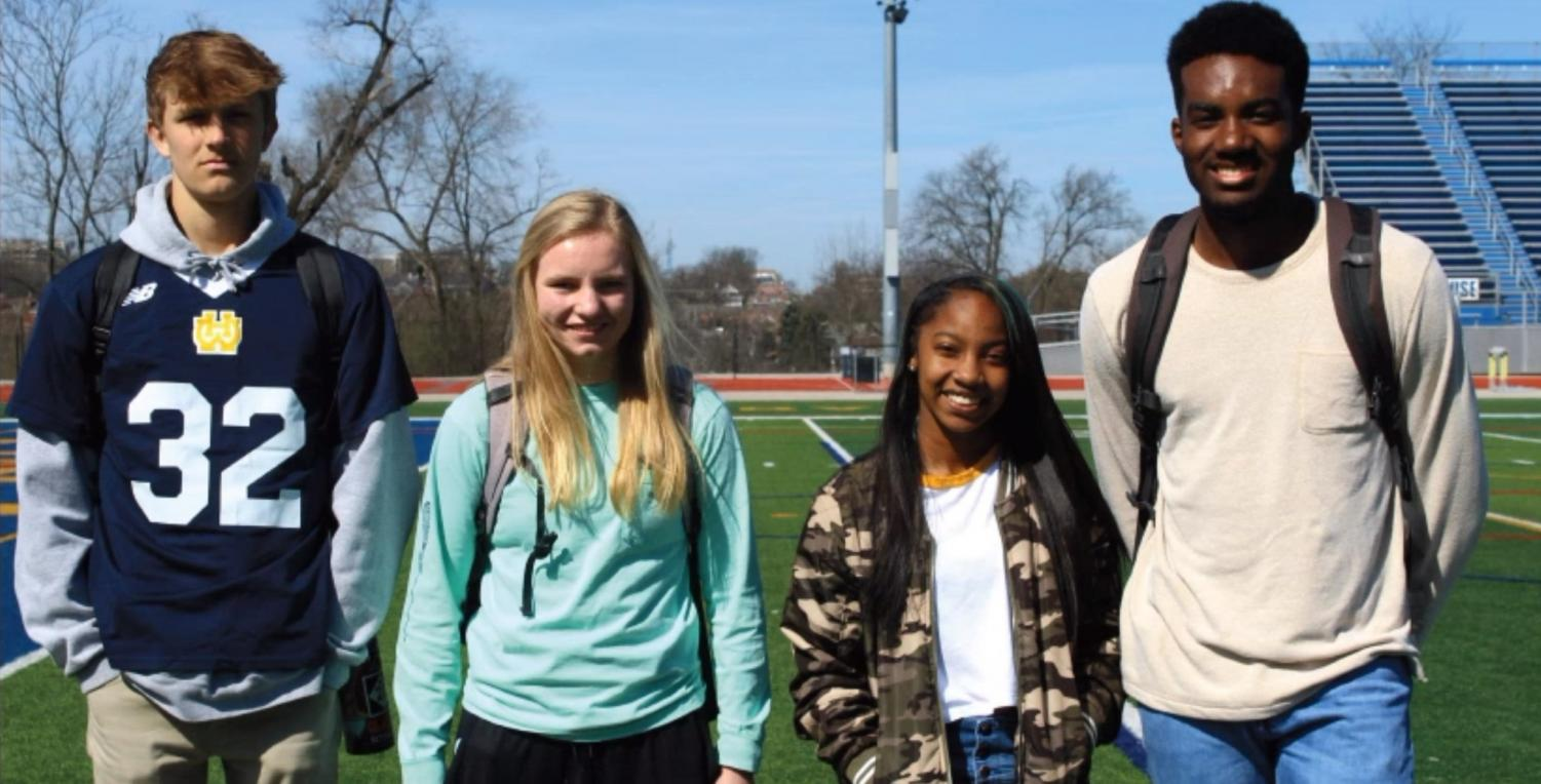 SENIORS Bengy Mitchell and Andrew Van Landuyt and Georgia Goering, '20, and Anijah Triggs, '20, all look ahead to achieving their individual and team goals for their upcoming spring seasons.