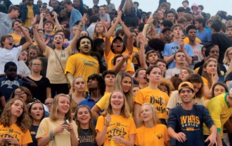 The WHHS Nuthouse came out in full force for many of the fall and winter sports, including boys football. Spring sports are pushing for this same level of attendance at games.