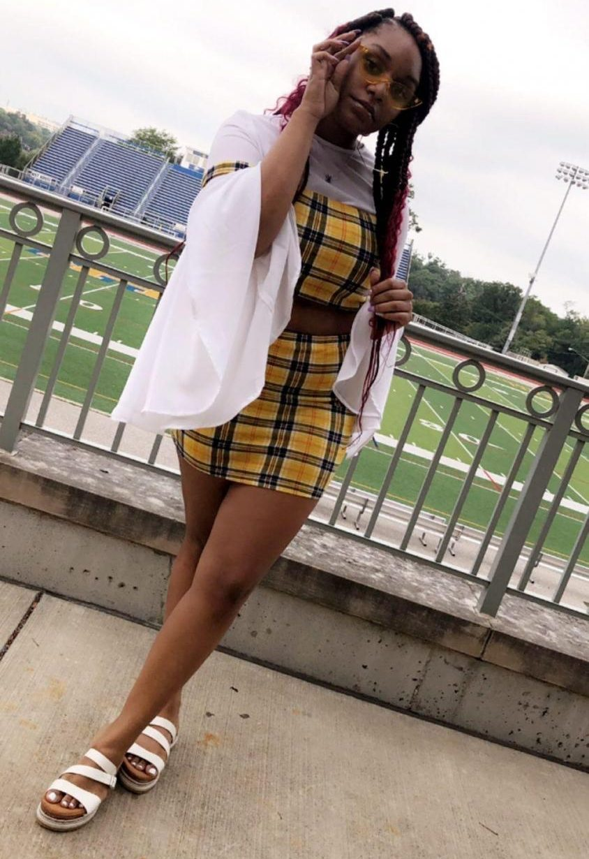 Kynnedi Priestley, '22, has built a collection of pieces from retailers such as Fashion Nova, Shein and Rue 21.