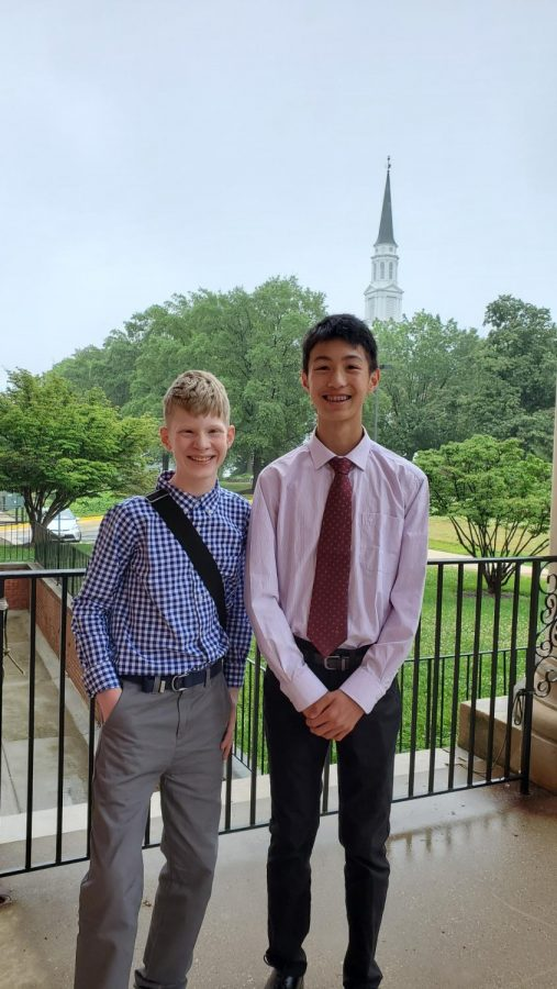 Eli Johnson and Louis Ke made up the team that made it to nationals at National History Day.
