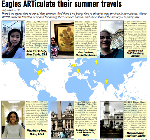 Eagles ARTiculate on their summer travels