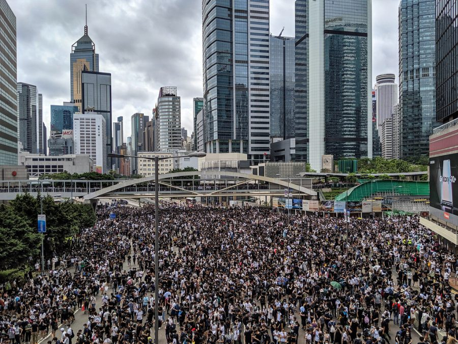 Hong+Kong+protesters+take+to+the+streets+in+opposition+of+the+extradition+bill.+People+have+been+protesting+the+bill+since+March.