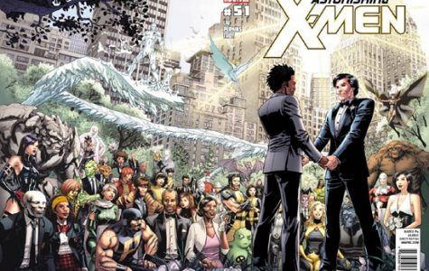 NorthStar is one of the first gay marvel heroes to come out since his coming out in  issue 106 of Alpha Flight in 1992, and had the first same-sex wedding in mainstream comics when he married his husband Kyle Jinadu in issue 51 of Astonishing X-Men.