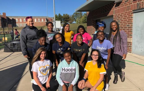 """The WHHS junior high cheerleading team builds friendships as well as cheer skills. """"I love making new friendships and how we all get closer with one another,"""" cheerleader Madison Crawford, '25, said"""