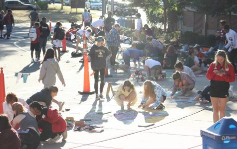Students from all grades at WHHS came together to create a wide variety of art pieces with just their creativity and chalk. Two junior high teams competed at the chalk drawing.