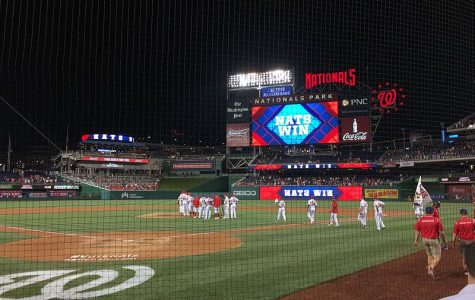 After a win, the Washington Nationals gather on the field. Now, the Nationals are world champions, having beat the Houston Astros in the World Series.