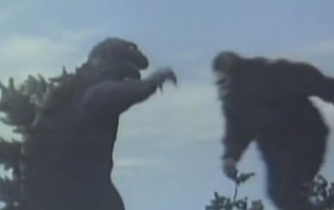 A freeze frame from the 1962 'King Kong vs Godzilla.' With the release of 'Godzilla vs Kong' in November of 2020, the two most famous monsters of all time will share the screen for the first time in 58 years.