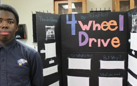 Science fair participant, Joseph Ruff, '24, studied four-wheel drive. The WHHS Science Fair took place Thursday, Feb. 6, 2020.