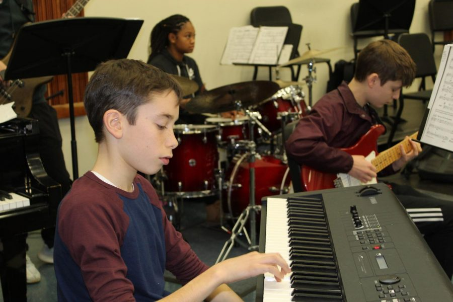 Members of WHHS' Jazz Band practice their craft. Both the Jazz Ensemble Band and the Jazz Lab Band will be performing in the WHHS Auditorium on Feb. 20 at 7 p.m.