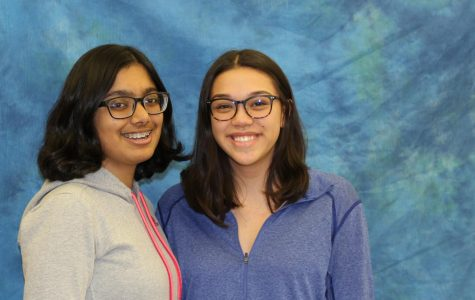 "Two of the founding members of the ""Books for Kids"" club at WHHS: Shubhra Mishra, '21, and Sam Rosen, '21."