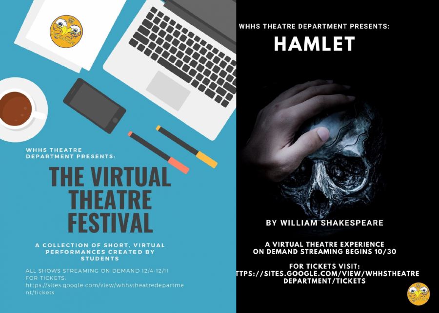 The+promotional+material+for+two+featured+performances+for+the+fall+2020+theater+season.%0A