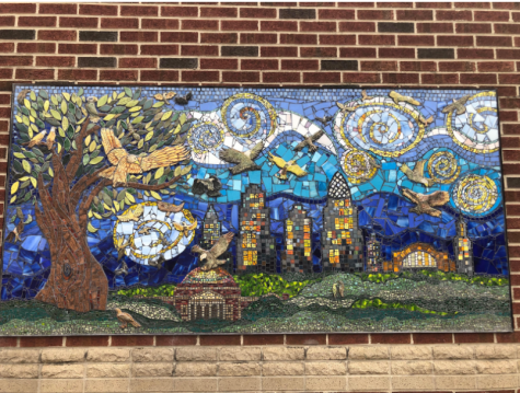 One of Art Club's projects is a mural outside the Arts and Science building. Although the club cannot currently meet in person, they are working on plans to continue beautifying the school.