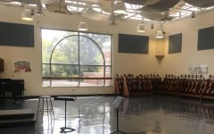 No students have been using the orchestra room this year due to virtual learning.