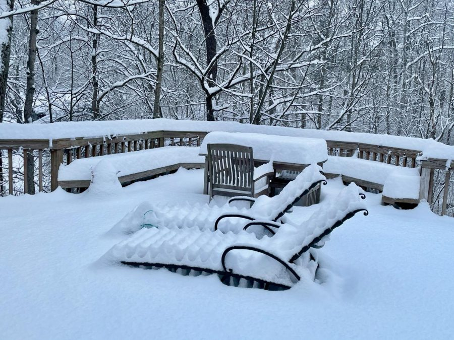 Cincinnati received several inches of snow in February.
