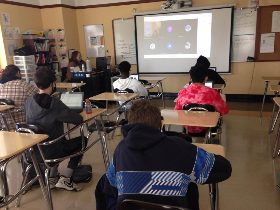 Some students returned to school while others continue learning remotely.
