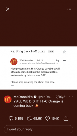 Orange Hi-C received the confirmation that it will be returning to all menus by summer.
