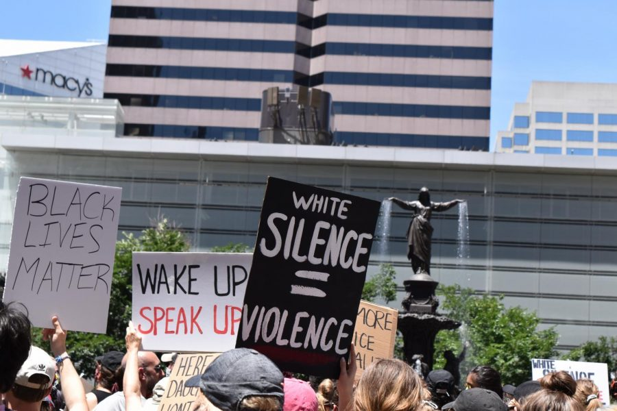 A protest was held in Fountain Square on June 6, in response to the murder of George Floyd. Racial unrest this summer spurred Cincinnati Public Schools to begin work on an anti-racism policy.