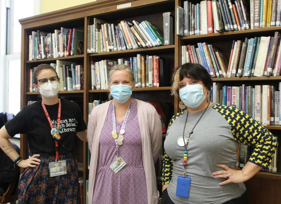 WHHS' librarians Acacia Moraes-Diniz, Melody Riggs and Margo Fisher-Bellman have been hard at work since the start of the school year and are excited to interact with more students.