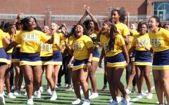 During the homecoming pep rally the spirit program came together to perform to a mashup of songs on Marx Field. The spirit program is made up of the cheerleaders and WHHS's dance team: The Golden Girls.